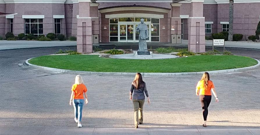 Walk for Wellness photo of three women walking